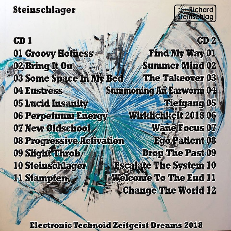 Back Cover of CD Album Steinschlager
